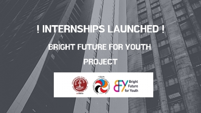 "Paid-Internship program within the ""Bright Future for Youth"" Project Launched"